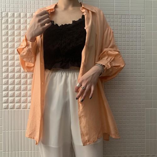 Vintage silk shirt / salmon pink