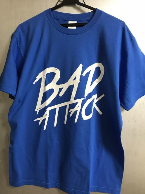 ロゴTシャツ 青