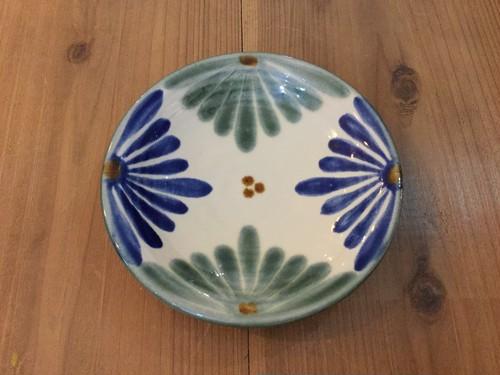皿5寸菊紋 育陶園