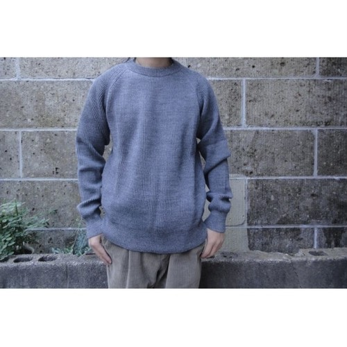 VINCENT ET MIREILLE (ヴァンソン エ ミレイユ) CREW NECK SWEATER 8GG AZE グレー
