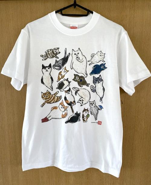2021年新作:17匹のねこねこTシャツ