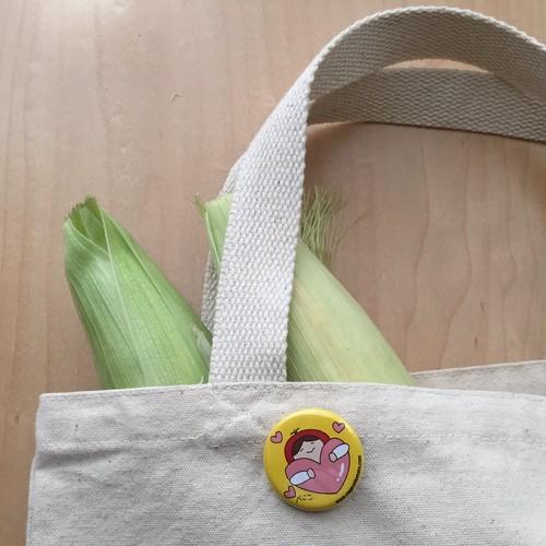 べじこ缶バッジ・ハート(黄色/ピンク)