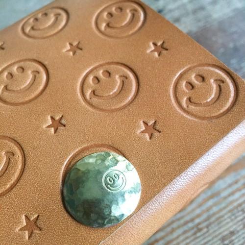 SMILE Leather ☺︎ Half wallet mini / オリジナル真鍮コンチョカスタム