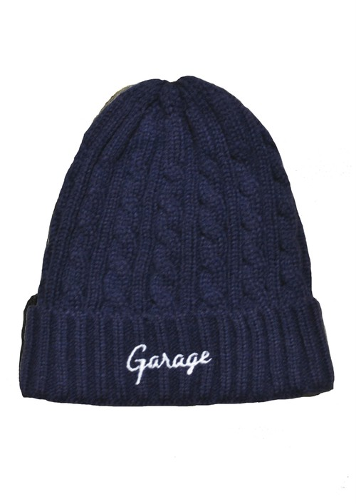 CABLE KNIT CAP Navy