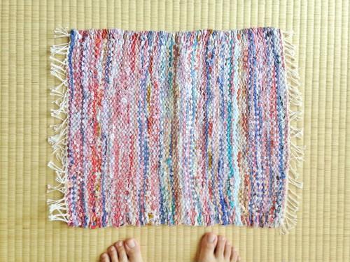 裂き織りマットF