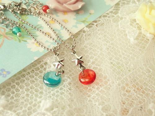 【1/6】星とCZレンズビーズのドール用ネックレス