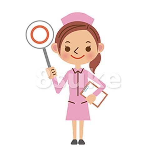 イラスト素材:看護師(ナース)の正解・OKイメージ(ベクター・JPG)