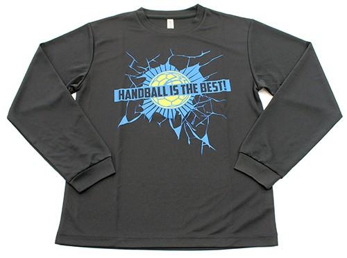 「HANDBALL IS THE BEST」ロングTシャツ【ブラック(HB-72)】