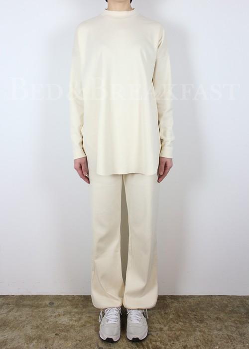 [送料無料] BED&BREAKFAST(ベッドアンドブレックファースト) Natural Rib Pants 2021春夏物新作