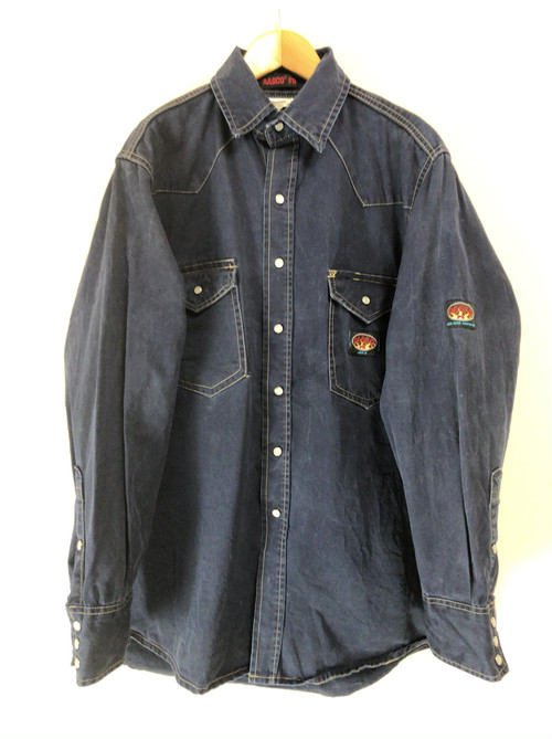 90's french work shirt