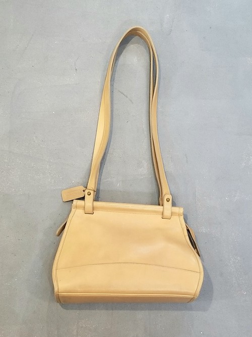 Old COACH leather shoulder bag / Made in USA[B-322]