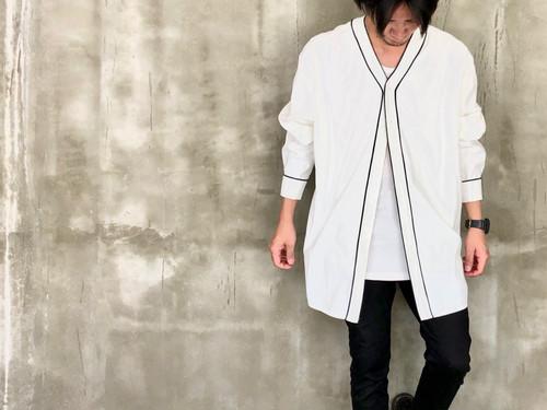 white black line shirt