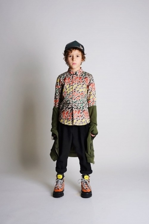 WOLF & RITA ウルフ&リタ ROBERTO - SHIRT WINTER GRASS size:2Y(90-100)~6Y(110-120)
