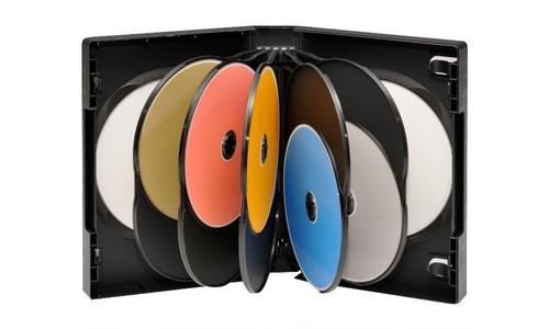 多数枚収納DVDトールケース 12枚用 黒 10個セット