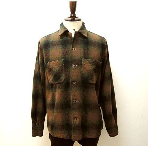 "50's ""Merrill Woolens"" Wool Shirt"