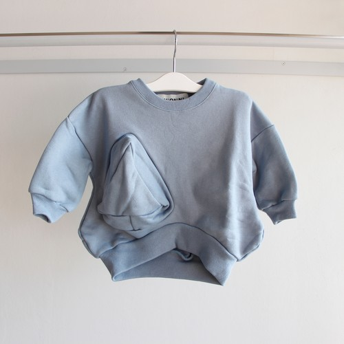 《UNIONINI 2019AW》◯△ sweat shirt / light blue / 1-10Y