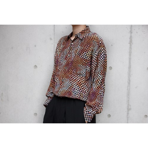 gradation checker shirts