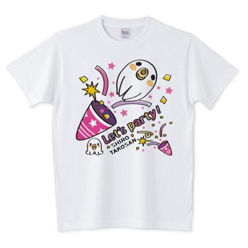 CT59 たこさんwinなー 白たこさんパーティ_C クラッカー a / 5.6オンスTシャツ (Printstar)