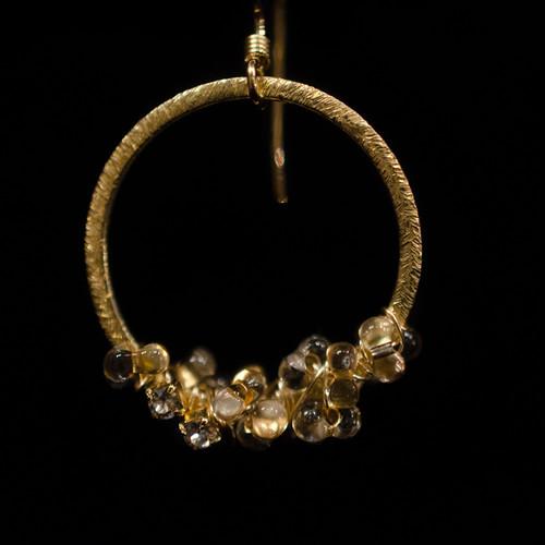 Czech glass and Swarovski pierced earrings
