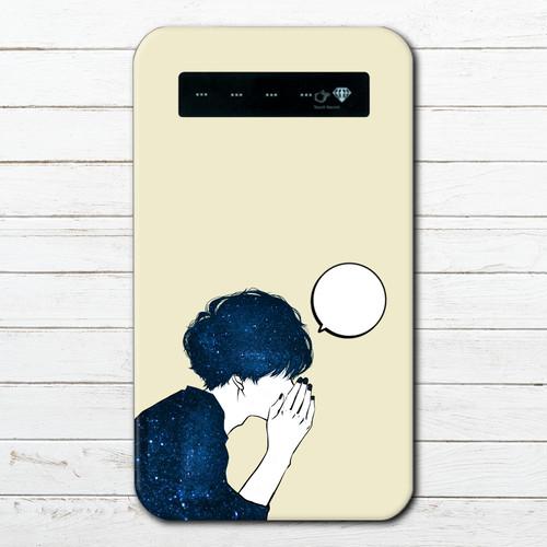 モバイルバッテリー おすすめ iPhone Android おしゃれ 男性 向け スマホ 充電器 タイトル:あのね。 作:7.7.4(ナナシ)