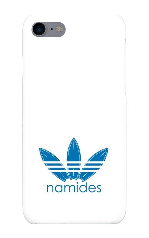 特別価格!!namidesロゴiPhone携帯ケース(ホワイト×アイスブルー)T−Lab