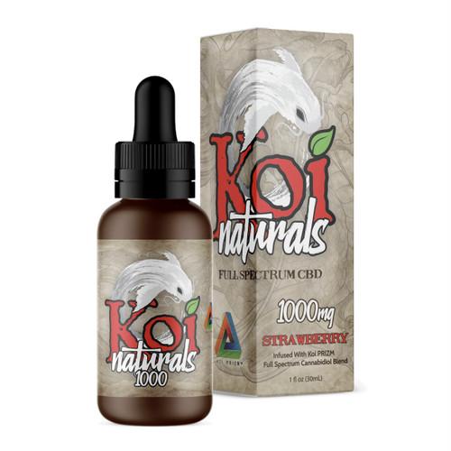 『舌下で摂取』Koi Naturals CBDオイル Strawberry味 30ml / 1000mgCBD 【Koi CBD】