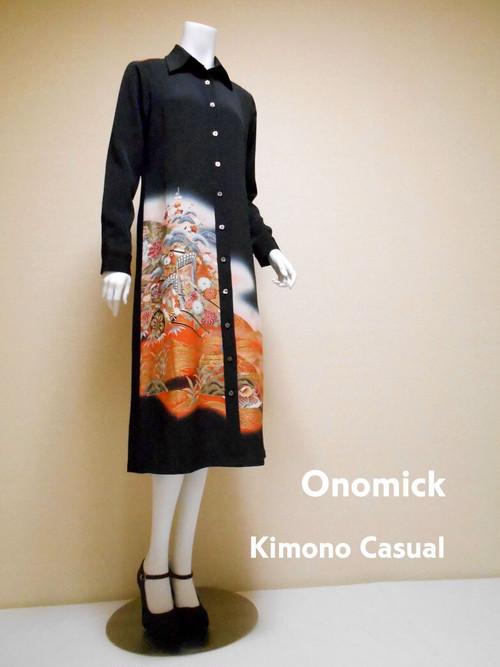 着物ロングシャツ Kimono Long Shirt LO-216/M