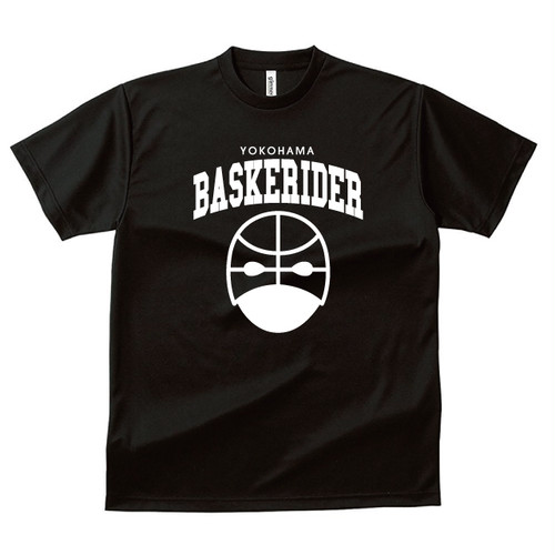 [受注生産]バスケライダーTシャツ ブラック/白