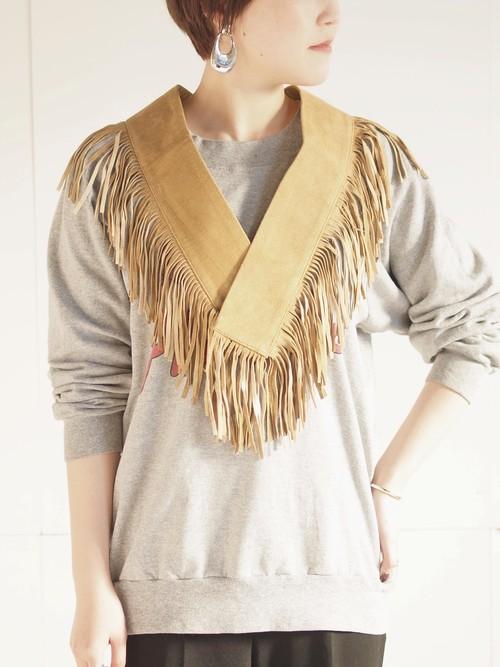 Fringe collar/Beige