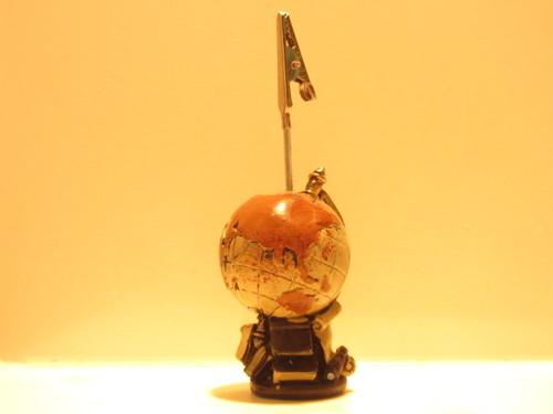 【アンティーク調クリップスタンド】 地球儀 アース 模型 卓上クリップ オブジェ