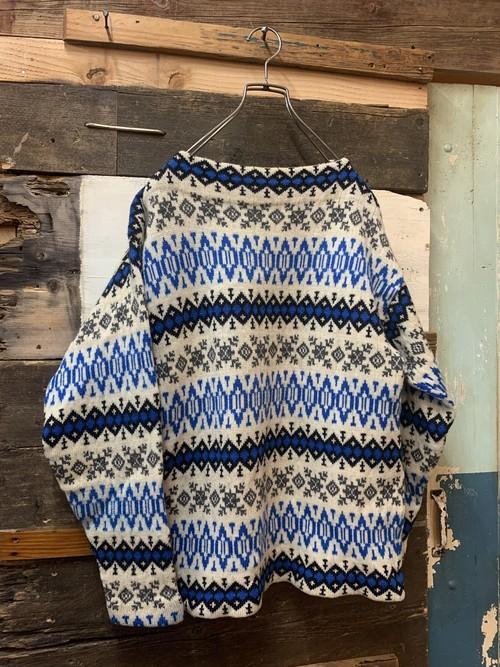 60's sears sportswear boat neck sweater