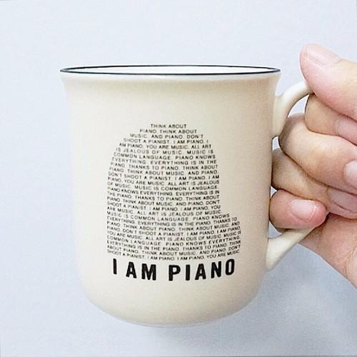 【送料無料】2色展開【マグカップ】オリジナルマグカップ「I AM PIANO」