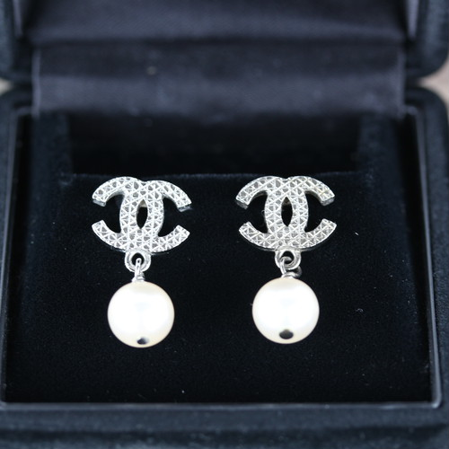 .CHANEL E14V COCO MARC SWING PEARL EARRING MADE IN FRANCE/シャネルココマークスウィングパールピアス 2000000041506