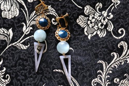 pierce/earring 花の咲く頃に想う Blue