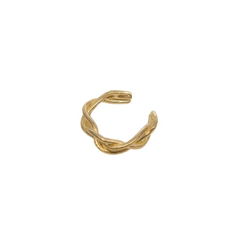 Ear cuff ' knitted thin ring' gold color