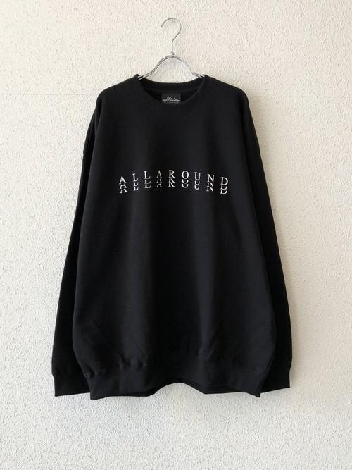 "【20005】CREW NECK BIG SWEAT ""SUBSTANCE"" BLACK"
