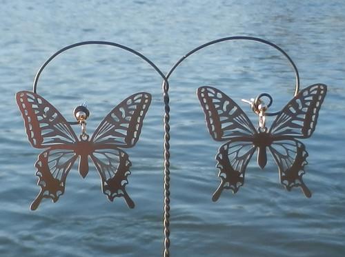 cometman 透かし 大きい蝶(チョウ)の羽のピアスorイヤリング