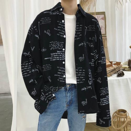スケッチデザインルーズシャツ BL4653