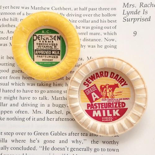 【オンライン限定】Vintage Milk cap badge / APPROVED MILK×PASTEURIZED MILK