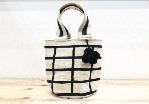 【Pre-order】ワユーバッグ(Wayuu bag) Basic line Mini Tote Square