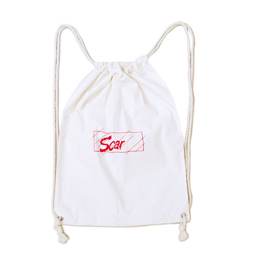 scar /////// FACE LOGO KNAPSACK (Natural)
