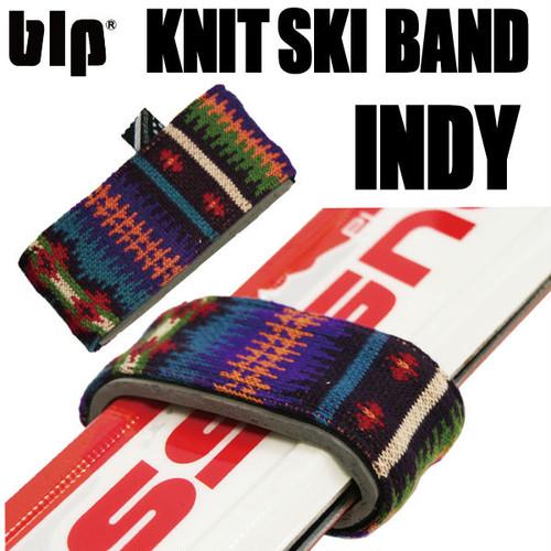 blp ニットスキーバンド2個セット INDY スキー板の持ち運びに!