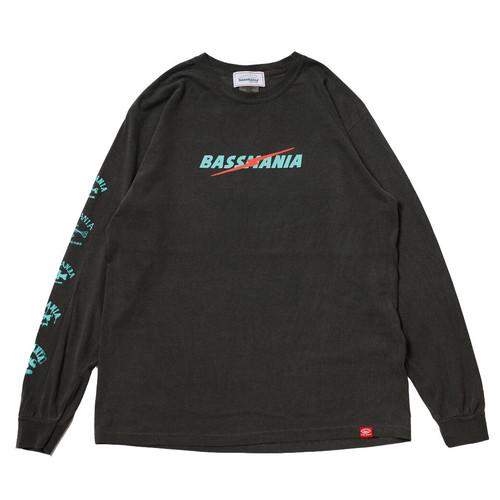 ライトニングロゴピグメントダイL/S Tシャツ [スモークブラック]