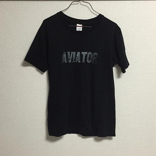 AVIATOR Tシャツ BLACK/SILKSCREEN