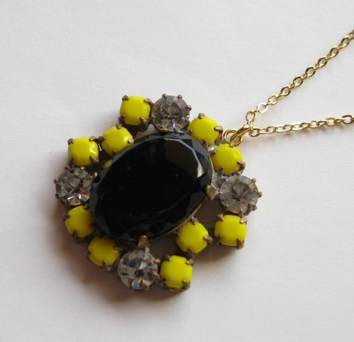TheDelight antique Czech stone pendant(アンティーク チェコ ストーン ペンダント)⑯