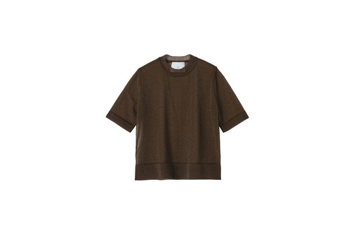 SPARKLED TEE - [BROWN]