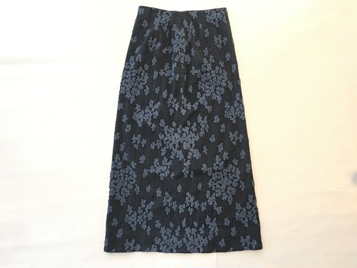 A-line patterned skirt (navy)