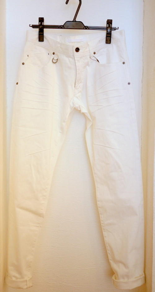 Vintaged Color Pants WHITE
