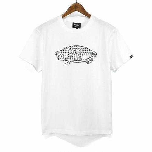 VANS(バンズ) ボードロゴ チェックプリント Tシャツ VA19HS-MT13
