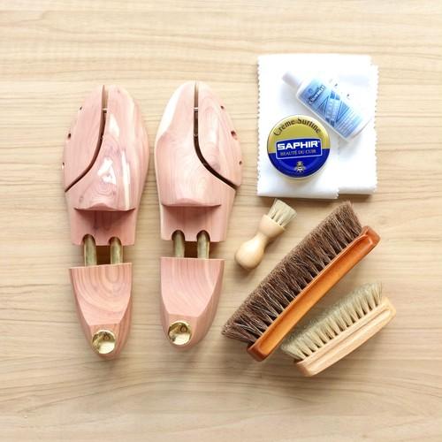 良い靴と長くつきあう靴磨きセット【シューキーパー付き】